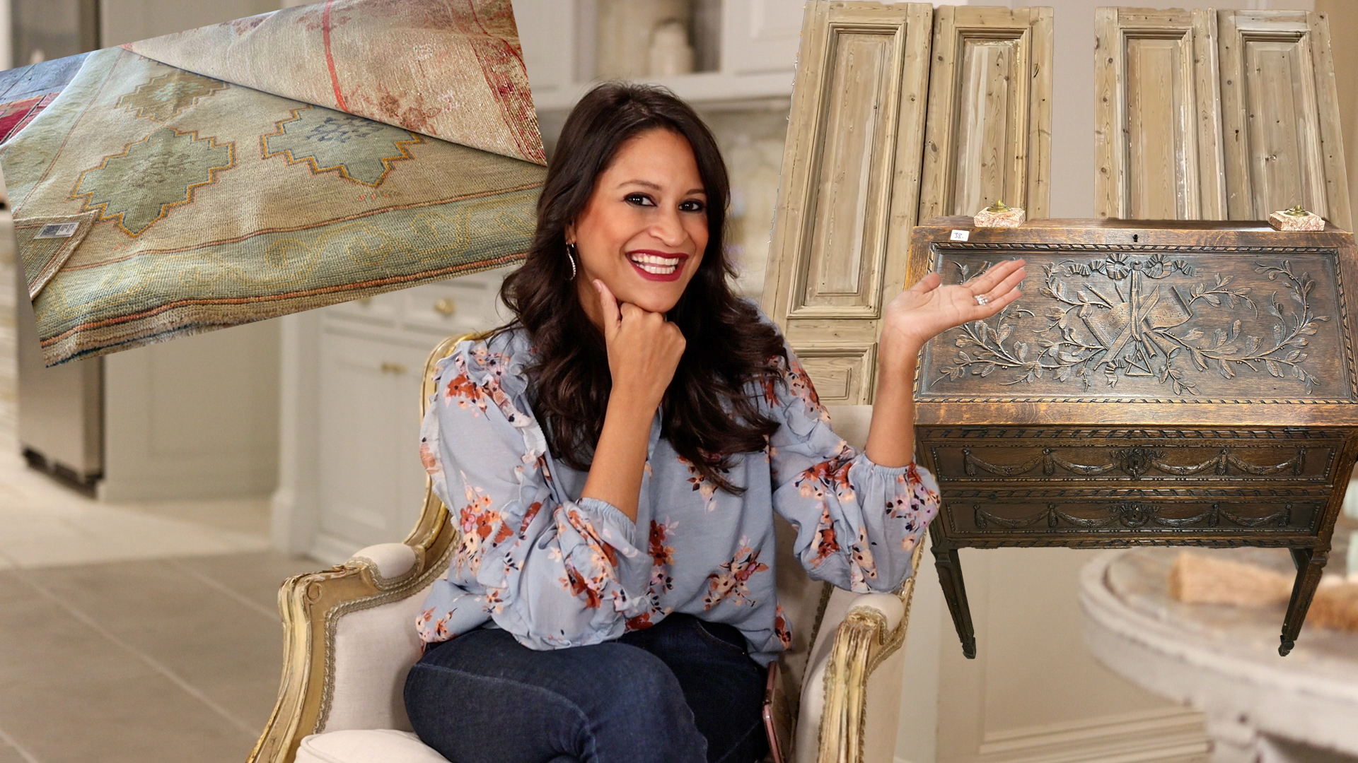 How Amitha Verma avoids buyer remorse when antique shopping at antique malls or Round Top Antiques Fair in Texas