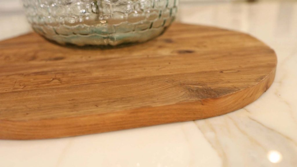 The maple colored wood on the new bread boards from Village Antiques remind Amitha Verma of fresh fallen leaves in autumn.